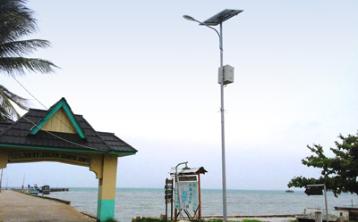 Kaich led street light export to Indonesia