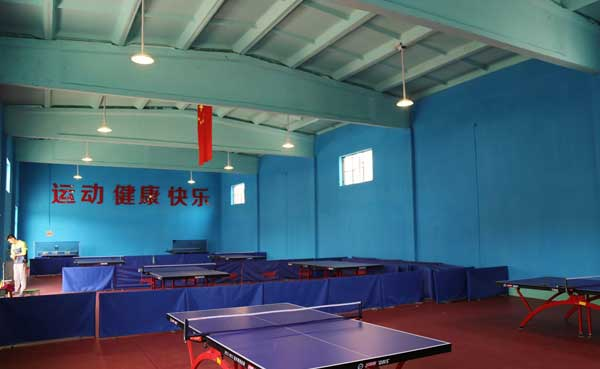 The lighting for table tennis training hall