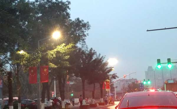Kaich LED Street lights lighting on the Jixia road