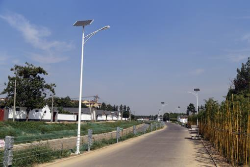 LED solar street light for urban and rural energy conservation and emission reduction