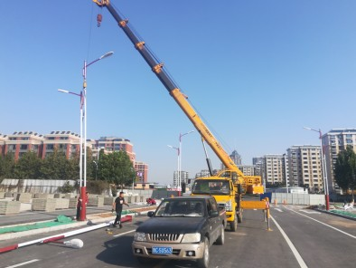 The Linyi Garden East Road is open to traffic, and the LED street lighting project is successfully completed!